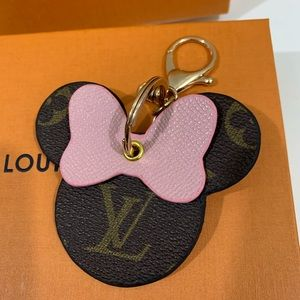 ✨AUTHENTIC LV MINNIE MOUSE KEYCHAIN - Repurposed✨